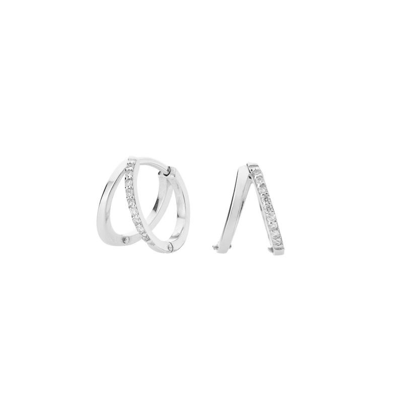 Pendientes Oro blanco y Diamantes GEA-101-011-UU.